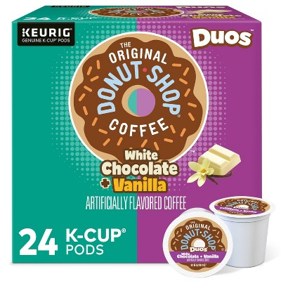 The Original Donut Shop Duos White Chocolate and Vanilla, Keurig Single Serve K-Cup Coffee Pods - 24ct