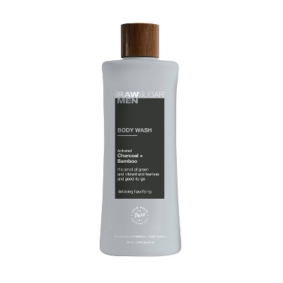 Raw Sugar Men's Body Wash Charcoal + Bamboo - 25 fl oz