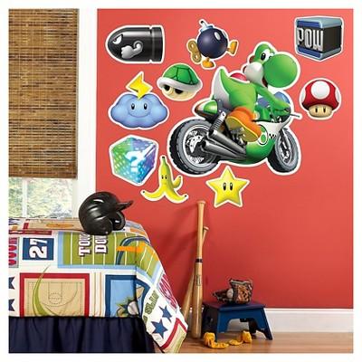 Mario Kart Wii Yoshi Giant Wall Decals