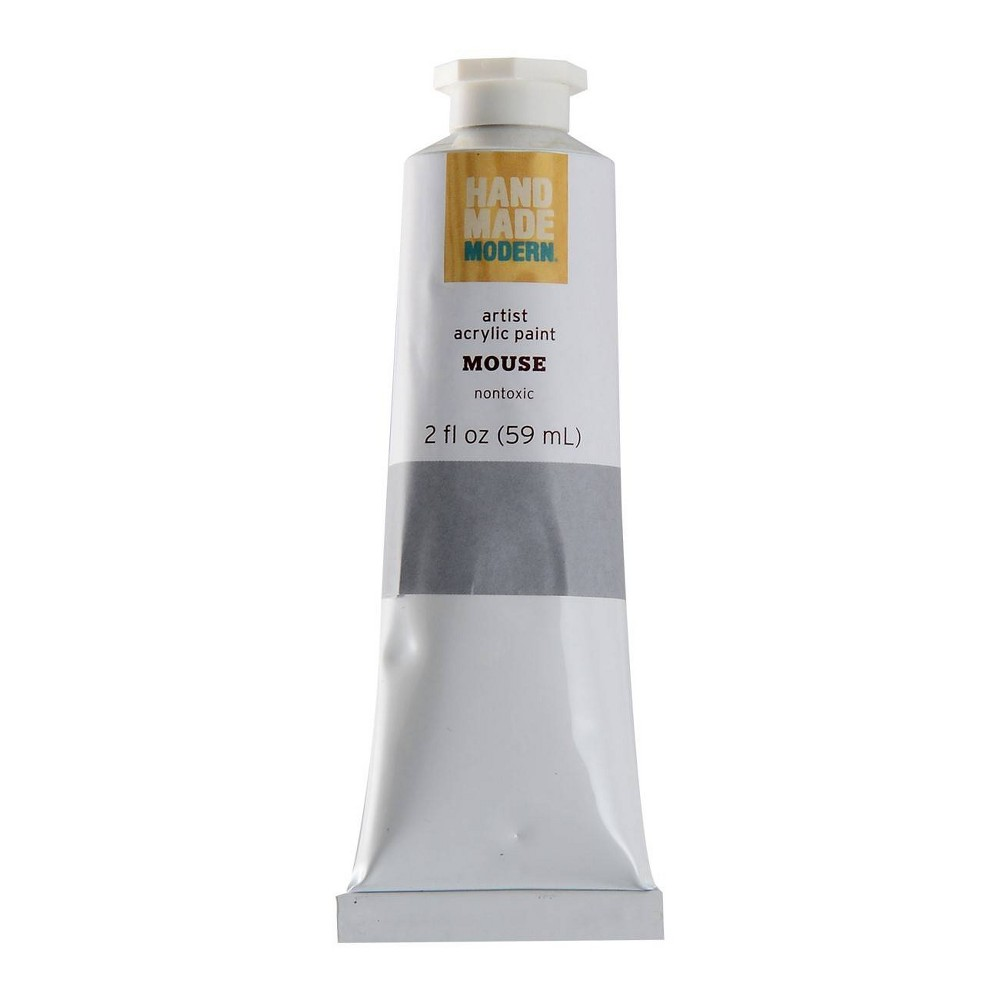 Image of 2 fl oz Acrylic Craft Paint - Hand Made Modern Mouse Gray