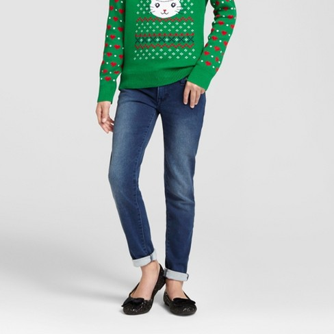 Girls' Super Skinny Jeans - Cat & Jack™ Dark Wash - image 1 of 4