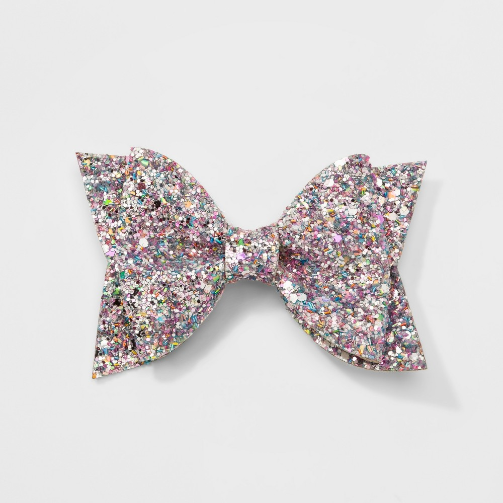 Girls' Tailed Bow Clip - Cat & Jack Silver