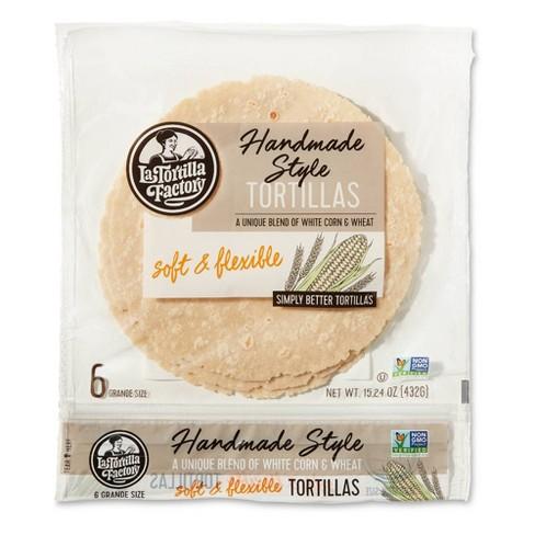 La tortilla Factory Handmade Style White Corn Tortillas - 15.24oz/6ct - image 1 of 3