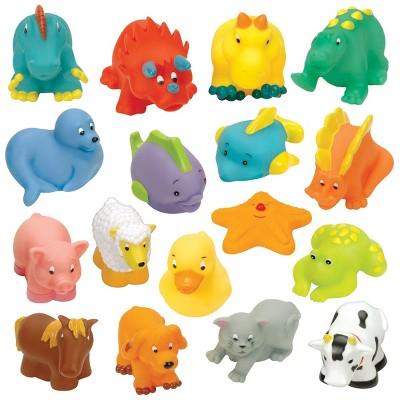 Battat My Bath Buddies Squeeze Toys  - Set of 17