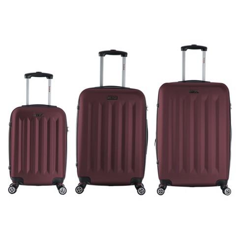 "InUSA Philadelphia 3pc Hardside Spinner Luggage Set 19""& 23""& 27"" - Wine - image 1 of 4"