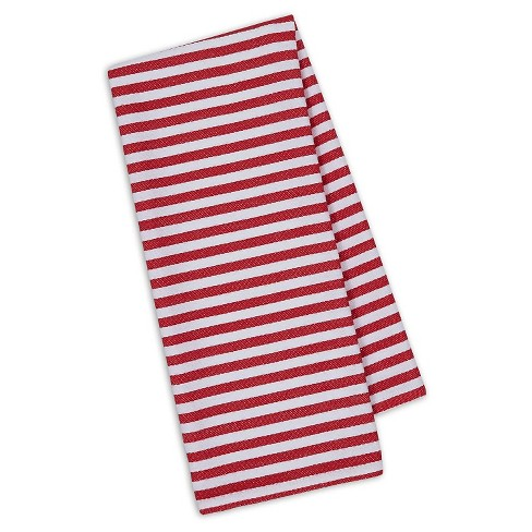"Red Stripe Dishtowel Red Set Of 4 (18""X28"") - Design Imports - image 1 of 1"