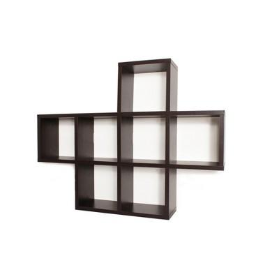 "31"" x 23"" Seven Cube Display Shelf Brown - Danya B."
