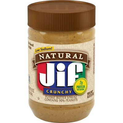Jif Natural Crunchy Peanut Butter - 16oz