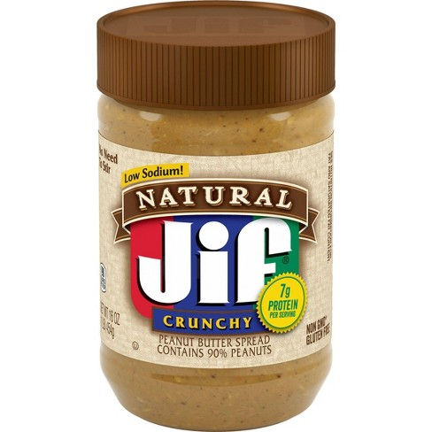 Jif Natural Crunchy Peanut Butter - 16oz - image 1 of 4