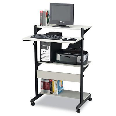 Mayline Soho Adjustable Mobile Computer Table 32w x 31d x 50h Gray/Black 8432SOGRYBLK