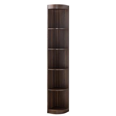 "77"" Pella Contemporary Corner Display Shelf Dark Walnut - HOMES: Inside + Out"