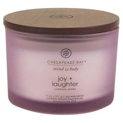 11oz Jar 3-Wick Candle Joy & Laughter - Chesapeake Bay Candle