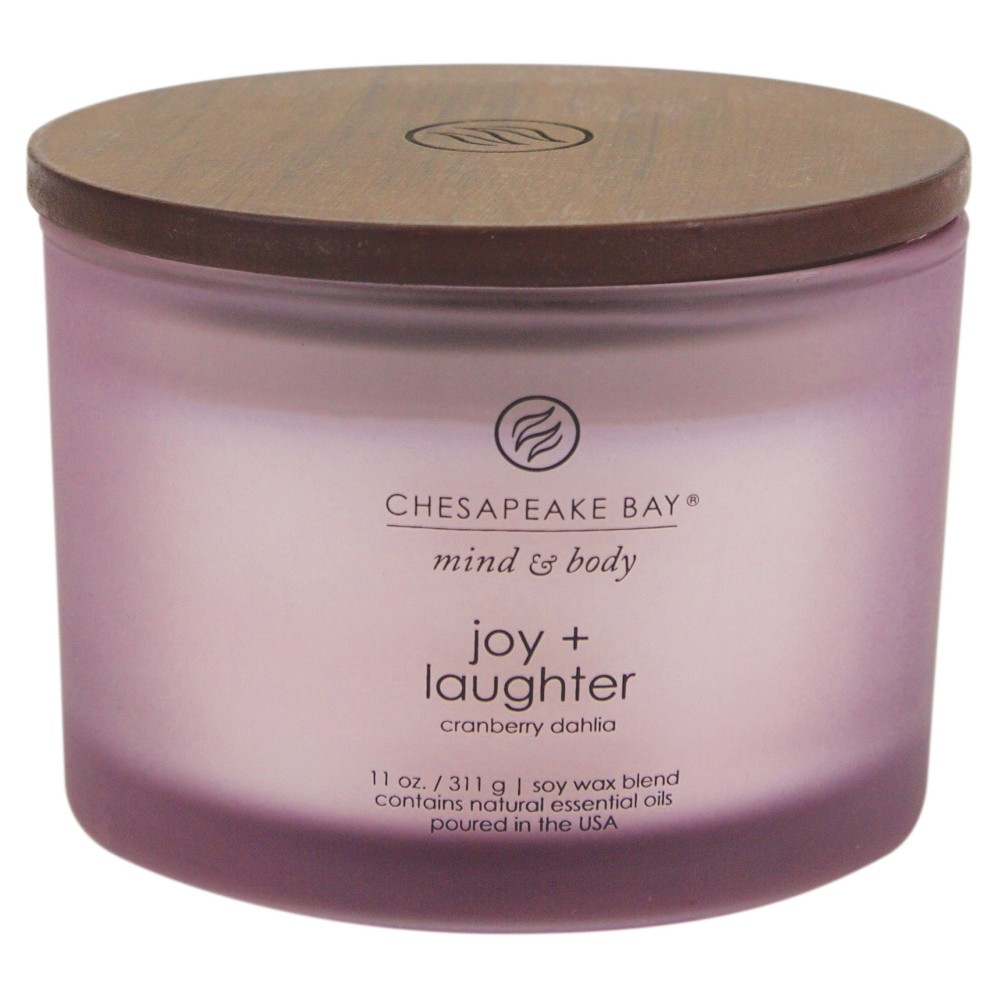 Image of 11oz Jar 3-Wick Candle Joy & Laughter - Chesapeake Bay Candle, Purple