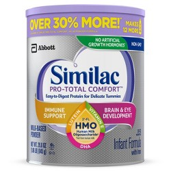 Similac Pro-Total Comfort Non-GMO Infant Formula with Iron Powder - 29.8oz