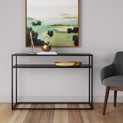 Glasgow Metal Console Table Black   Project 62™