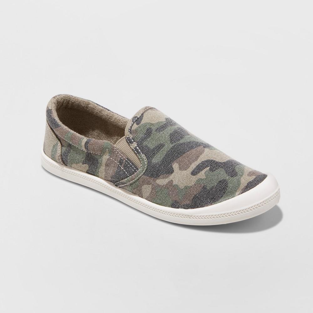 Women S Mad Love Kasandra Slip On Canvas Flexible Bottom Sneakers Green 8