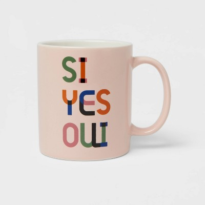 15oz Stoneware Si Yes Oui Mug - Room Essentials™
