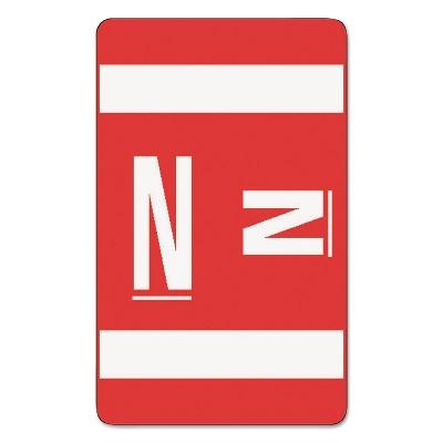 Smead Alpha-Z Color-Coded Second Letter Labels Letter N Red 100/Pack 67184