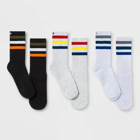 Pair of Thieves Men's Striped Cushion Crew Socks - image 1 of 4