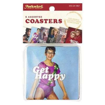 6ct Awkward Family Photos Everyday Coaster Set