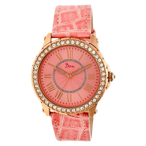 Women's Boum Belle Watch with Crystal Surrounded Bezel- Pink - image 1 of 3