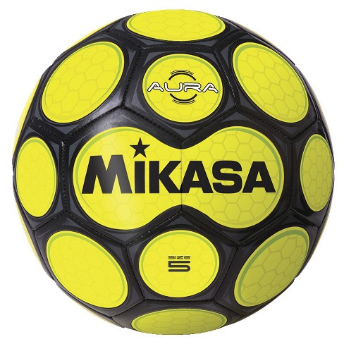 Mikasa Aura Model Soccer Ball, Size 5, Black and Neon Yellow - image 1 of 1