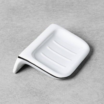 Stoneware Wall-Mounted Soap Dish White - Hearth & Hand™ with Magnolia