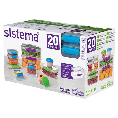 Delicieux Sistema Food Storage Containers Set   20ct