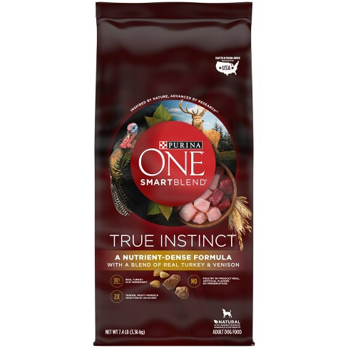 Purina ONE SmartBlend True Instinct With a Blend of Real Turkey & Venison Adult Dry Dog Food - image 1 of 4