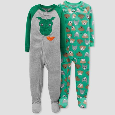Baby Boys' Dog Footed Sleeper - Just One You® made by carter's Forest Green 9M