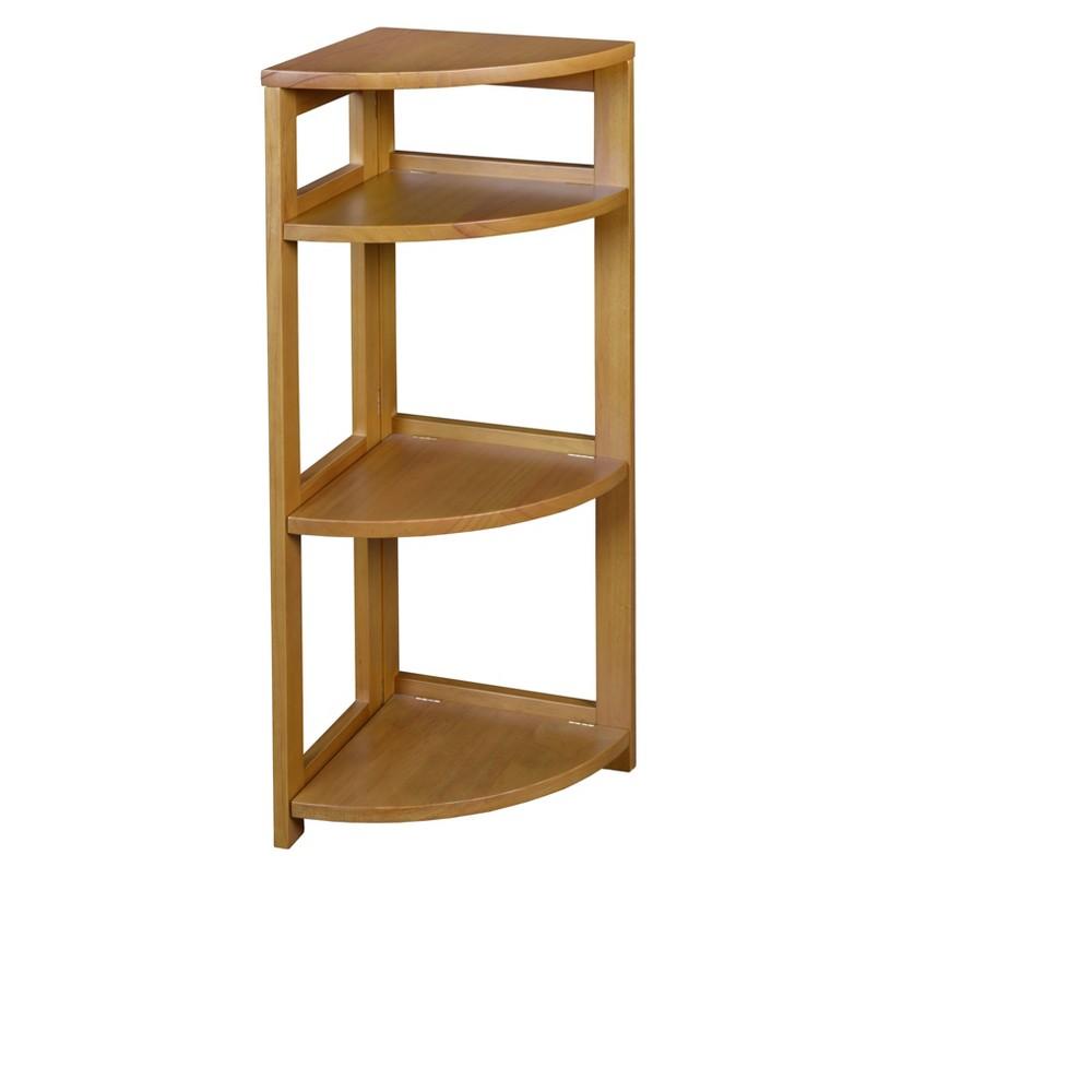 "Image of ""Flip Flop 34"""" High Corner Folding Bookcase Medium Oak - Niche, Brown"""
