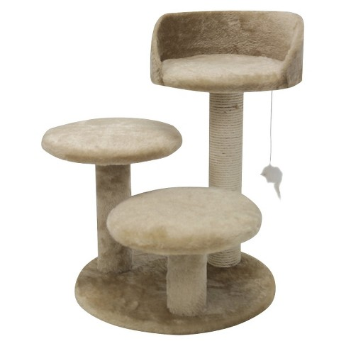 "Majestic Pet Products Casita Faux Fur Cat Tree - Honey (27"") - image 1 of 3"