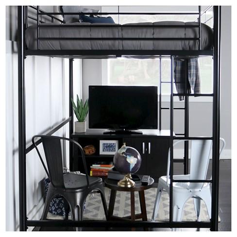 Full Premium Metal Loft Bed Saracina Home Target