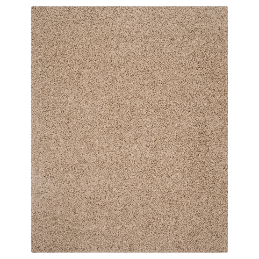 Solid Loomed Area Rug Beige