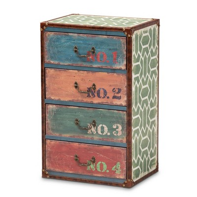 4 Drawer Amandine Wood Accent Storage Chest - Baxton Studio