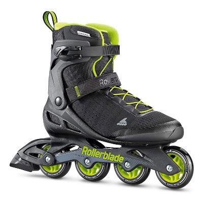 Rollerblade 079670001A1-6 Men's Adult Fitness Zetrablade Elite Performance Adjustable Secure Fit Inline Skates, Size 6, Black and Lime Green