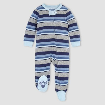 Burt's Bees Baby® Baby Boys' Organic Cotton Striped Foothills Sleep N' Play - Blue 0-3M
