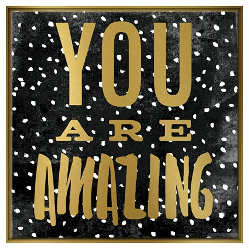 you are amazing framed canvas pillowfort target