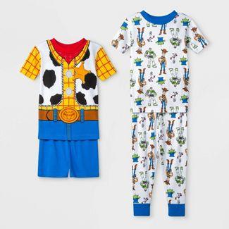 Toddler Boys' 4pc Toy Story Pajama Set - Blue 5T