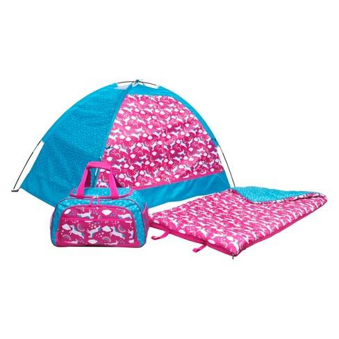 Crckt Kids Unicorn 3pc Sleeping Bag Pink Blue