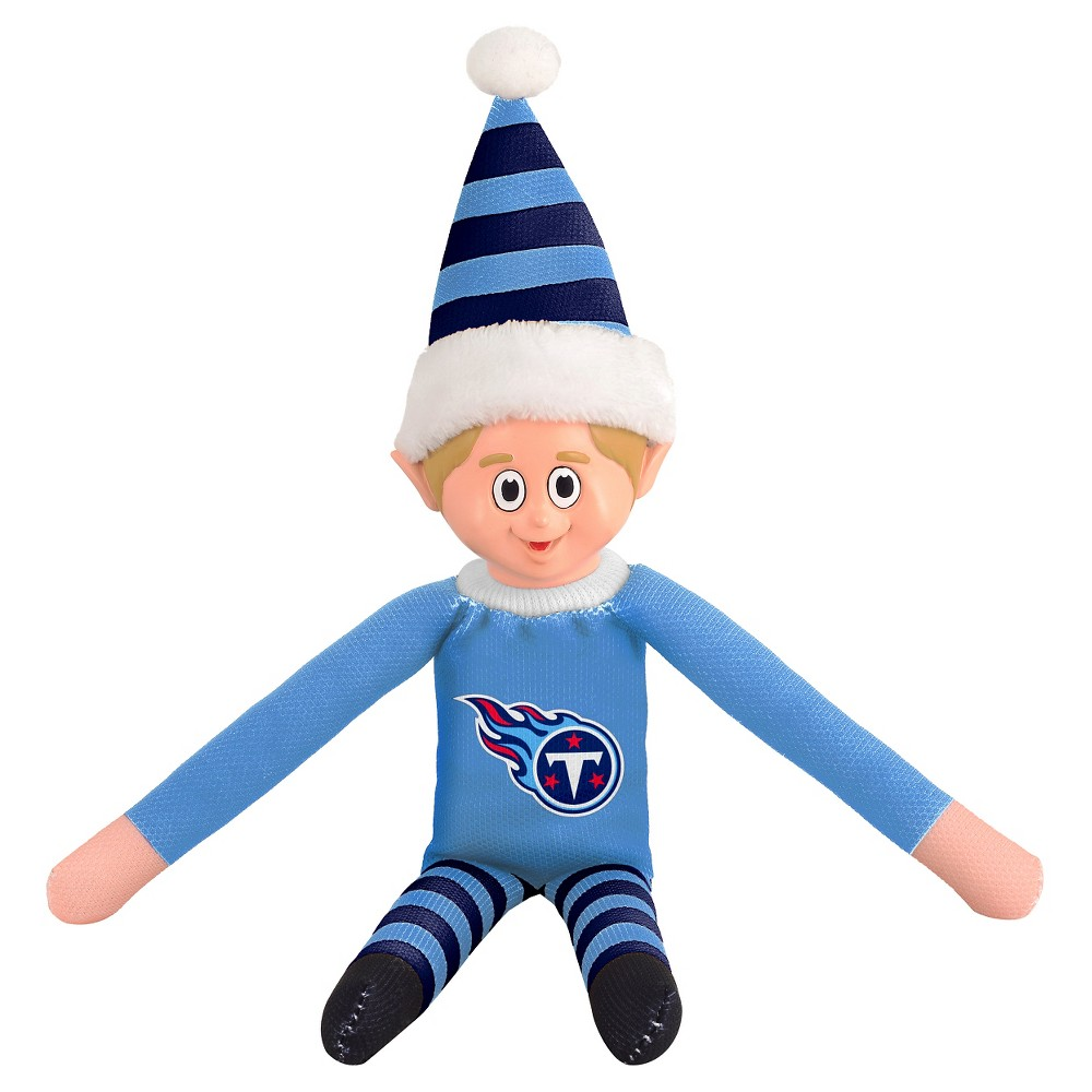 Tennessee Titans Forever Collectibles Plush Forever Collectibles - NFL Team Elf, Tennessee Titans - This Forever Collectibles Team Elf with provide hours of joy and holiday cheer for all. This officially licensed elf is sporting your favorite team's logo on his sweatshirt and a Santa hat for the season. Start a new tradition this year with your 2015 team elf! Age - 3 and up. Team elf is approximately 14 inches tall.
