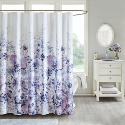 Slade Floral Cotton Shower Curtain