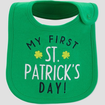 Baby My First St. Patricks Day Bib - Just One You® made by carter's Green One Size