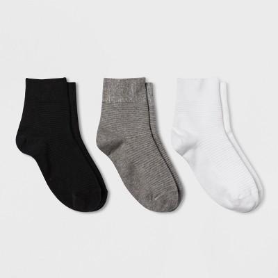 Women's 3pk Garter Stitch Ankle Socks - Universal Thread™ 4-10
