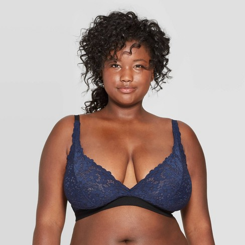 Women's Plus Size Lace Triangle Bralette - Colsie™ - image 1 of 3