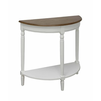 French Country Entryway Table Driftwood Top/White - Breighton Home
