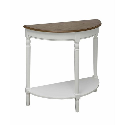 French Country Entryway Table Driftwood Top/White - Breighton Home - image 1 of 4