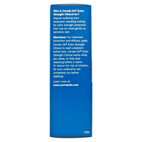 f8d2283cee6 Certain Dri Extra Strength Clinical Solid Antiperspirant - 1.7oz. Shop all Certain  Dri