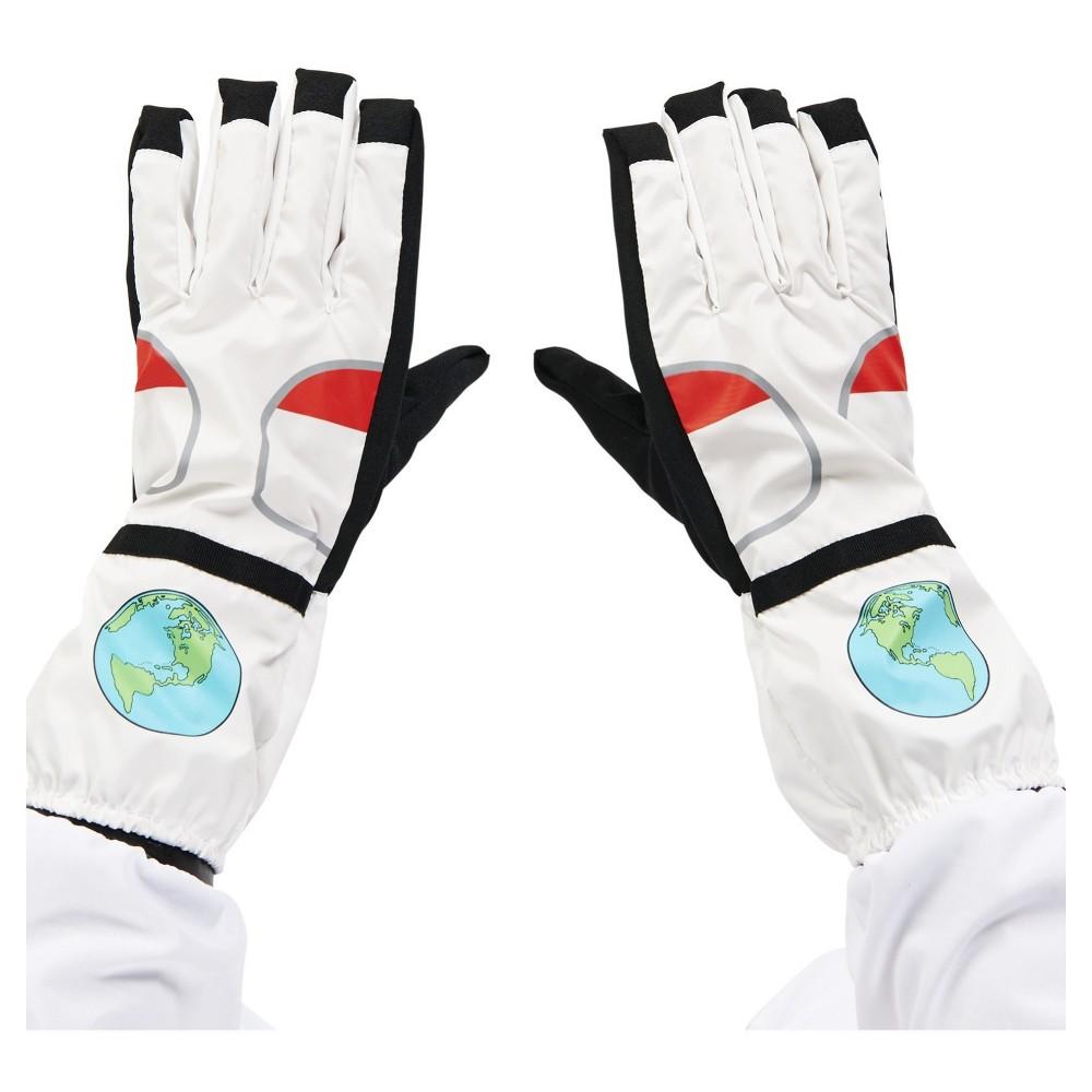 Astronaut Adult Gloves, Men's, White
