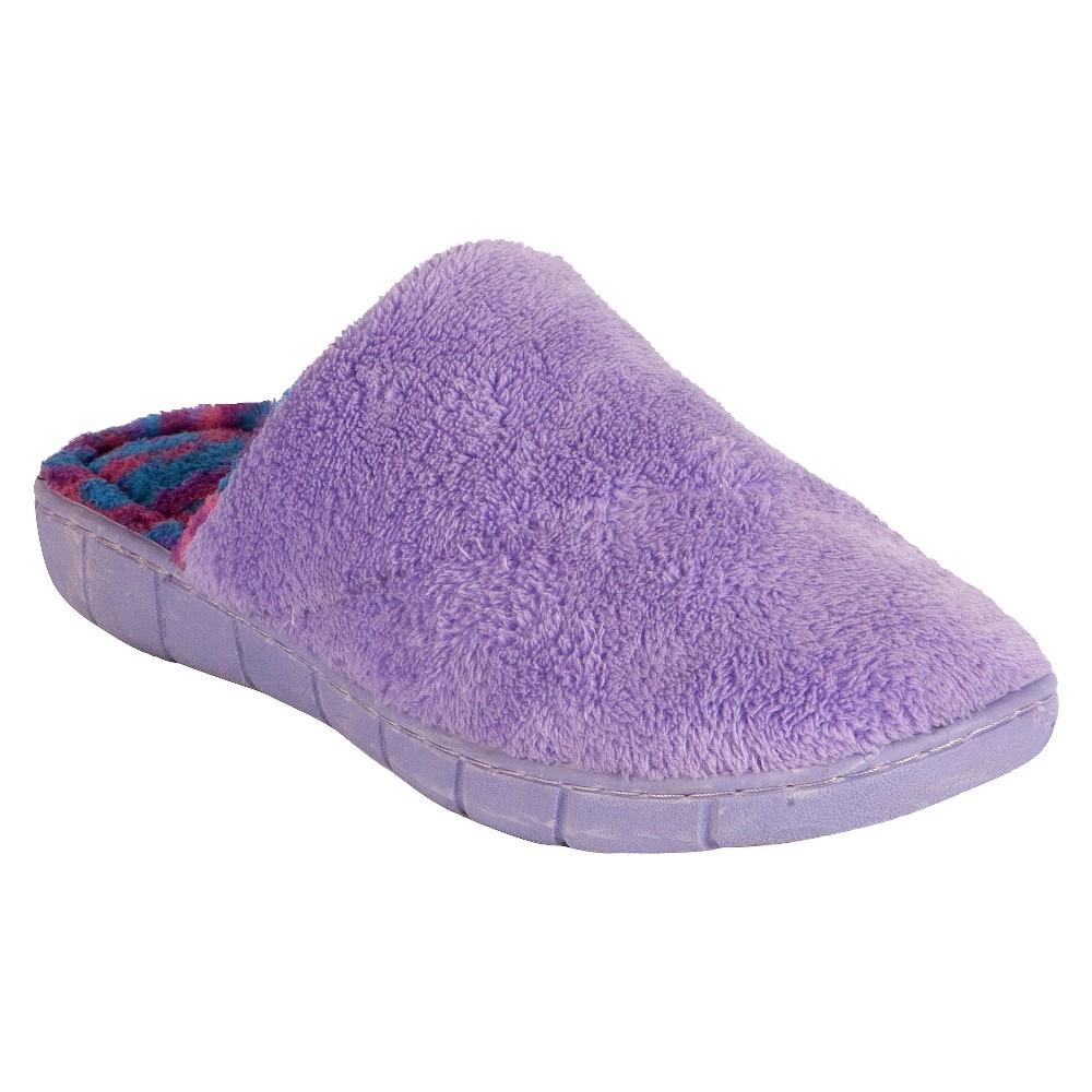 Women's Muk Luks Scuff Slippers - Lilac XL(11-12), Size: XL (11-12), Purple